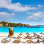 Majorca Porto Cristo beach in Manacor at Mallorca — Stock Photo #67493915