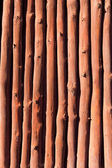 Mediterranean wooden trunks wall texture — Stock Photo
