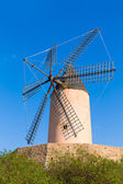 Mallorca Moli de Calvia wind mill in Majorca Balearic — Stock Photo