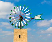 Mallorca Majorca windmill Campos Balearic Island — Stock Photo