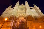 Palma de Mallorca Cathedral Seu sunset Majorca — Stock fotografie