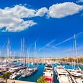 Palma de Mallorca port marina in Majorca Balearic — Stock Photo