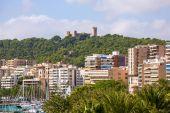 Palma de Majorca skyline with Bellver castle — Stock Photo