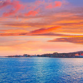 Palma de Mallorca sunset at port in Majorca — Stock Photo