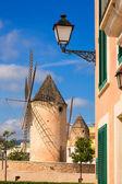 Palma de Majorca windmills wind mill in Mallorca — Stock Photo