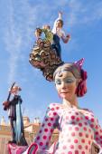 Fallas of Valencia in Denia popular fest figures — Photo