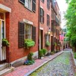 Acorn street Beacon Hill cobblestone Boston — Stock Photo #69252825