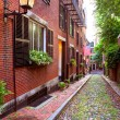 Acorn street Beacon Hill cobblestone Boston — Fotografia Stock  #69254207