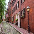 Acorn street Beacon Hill cobblestone Boston — Stock Photo #69254399