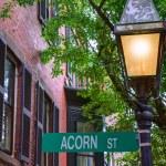 Acorn street Beacon Hill cobblestone Boston — Stock Photo #69254567