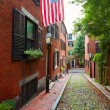 Acorn street Beacon Hill cobblestone Boston — Stock Photo #69257109
