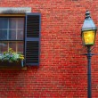 Acorn street Beacon Hill cobblestone Boston — Stock Photo #69257961