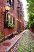 Acorn street Beacon Hill cobblestone Boston — Stock Photo