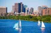 Boston Harvard Bridge in Charles river — Стоковое фото