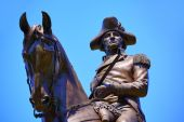 Boston Common George Washington monument — Stock Photo