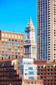 Boston Clock tower Custom House Massachusetts — Stock Photo