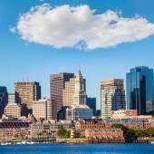 Boston skyline with river sunlight Massachusetts — Stock Photo