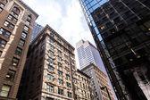 Boston in Massachusetts downtown buidings — Stock Photo