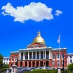 Boston Massachusetts State House golden dome — Stock Photo #69290187