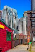 Boston Northern Avenue Bridge in Massachusetts — Stock Photo
