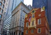 Boston Old State House in Massachusetts — Stok fotoğraf