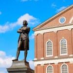 Boston Samuel Adams monument Faneuil Hall — Stock Photo #69307639