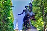 Boston Paul Revere Mall statue Massachusetts — Stock Photo