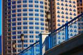 Boston Seaport boulevard bridge Massachusetts — Stock Photo