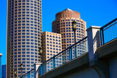 Boston Seaport boulevard bridge Massachusetts — Stock Photo
