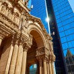Boston Trinity Church at Copley Square — Stock Photo #69317779