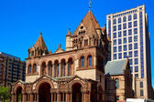 Boston Trinity Church at Copley Square — Stock Photo