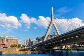 Boston Zakim bridge in Bunker Hill Massachusetts — Stok fotoğraf