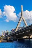 Boston Zakim bridge in Bunker Hill Massachusetts — Stock Photo