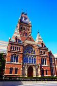 Harvard University historic building in Cambridge — Stock Photo