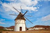 Almeria Molino Pozo de los Frailes windmill Spain — Stock Photo
