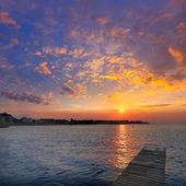 Denia spiaggia tramonto mediterraneo alicante spagna — Foto Stock