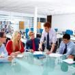 Executive business people team meeting at office — Stock Photo #75549823