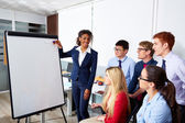Businesswoman presentation to office team — Stock Photo