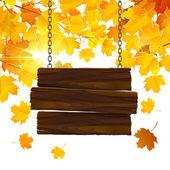 Fundo de folhas de outono — Vetorial Stock