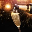 Champagne with sparklers — Stock Photo #57541583