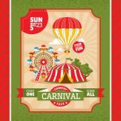 Country fair vintage invitation card — Stock Vector