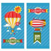 Country fair vintage invitation cards — Stock Vector