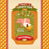 County fair vintage invitation card — Stock vektor