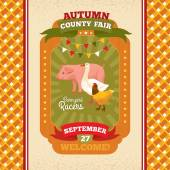 County fair vintage invitation card — Stock Vector