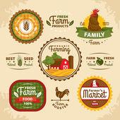 Vintage farm labels — Stock Vector