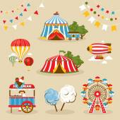 Set of country fair objects — Stock Vector