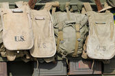 Old American army bags — Stockfoto
