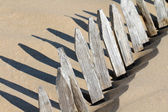 Silted barrier — Stock Photo