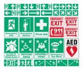 Emergency Evacuations Sings — Stock Vector