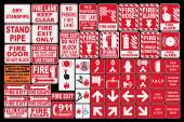 Emergency Fire Sings — Stock Vector